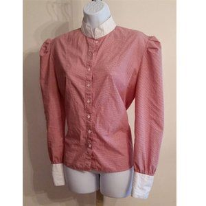 Vintage puff shoulder cotton prairie top aprox L